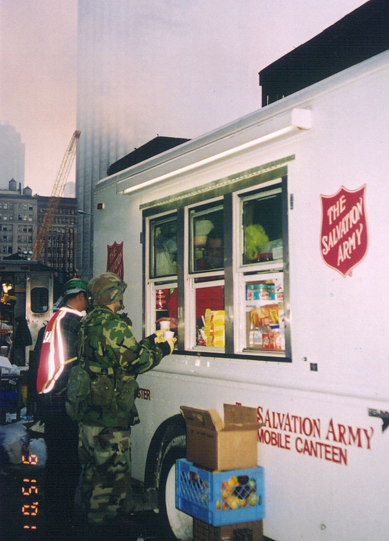 Salvation Army Canteen Truck at Ground Zero